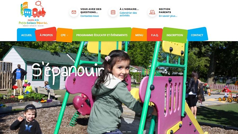 CPE Bobino nouveau site web page accueil capture ecran