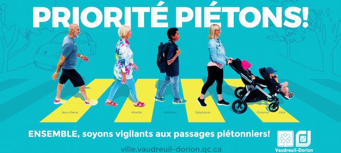 Campagne priorite pietons Vaudreuil_Dorion visuel courtoisie
