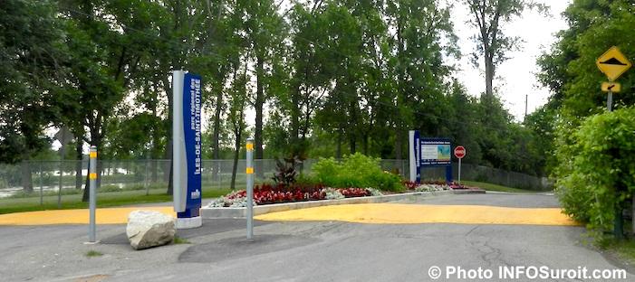 Entree ouest parc_regional_des_iles Saint-Timothee Photo INFOSuroit