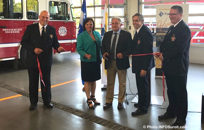 Inauguration caserne pompiers Rigaud sept2017 Photo INFOSuroit
