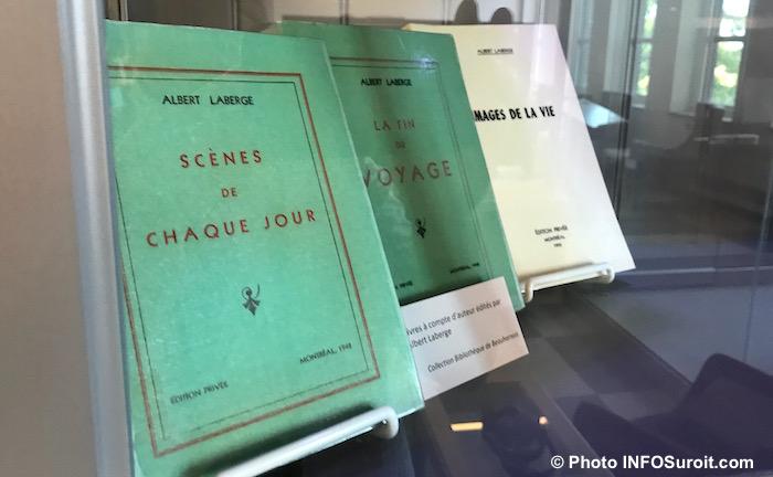 Livres ecrivain Albert_Laberge bibliotheque Beauharnois Photo INFOSuroit