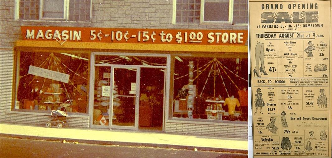 Magasin_F_Ratte rue Lambton Ormstown Photo souvenir et annonce courtoisie CLDHSL