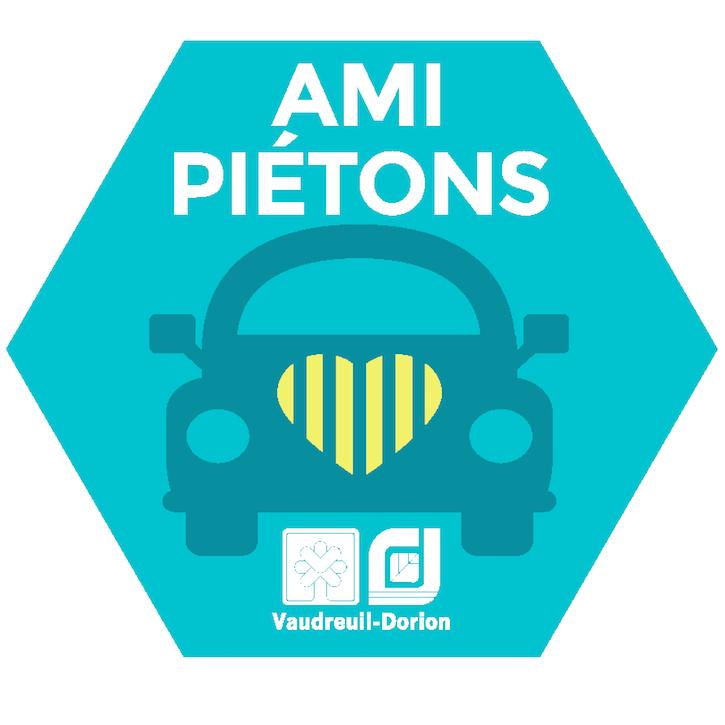 autocollant Ami-pietons Campagne sensibilisation Vaudreuil-Dorion