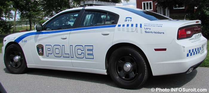 autopatrouille police Chateauguay Beauharnois Lery St-Isidore Photo INFOSuroit