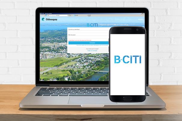 b-citi application web ordinateur telephone cellulaire Visuel courtoisie VC