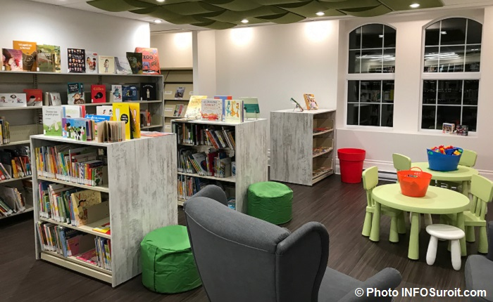 bibliotheque Ste-Martine coin enfants livres Photo INFOSuroit