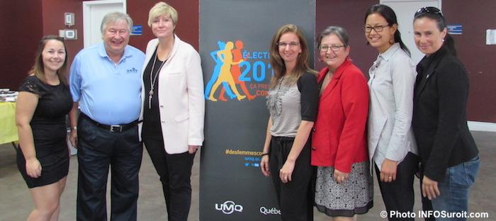 conference UMQ NSimon avec elus et personnel CentredMaindeFemmes Photo INFOSuroit