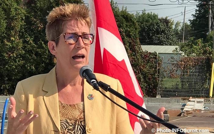 deputee Brenda_Shanahan annonce 15sept2017 a Beauharnois Photo INFOSuroit