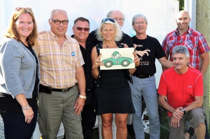 directrice MDJ Valleyfield et responsables Rallye Coton46 2017 Photo courtoisie