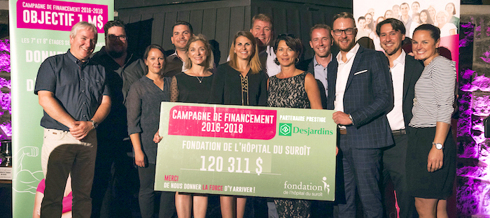 fondation hopital suroit remise cheque golf velo Photo via FHS