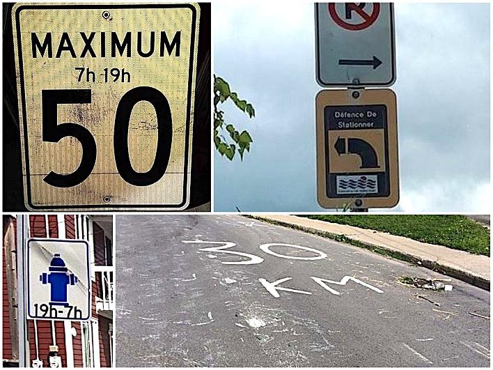 panneaux modifies vandalisme Photos courtoisie SdV