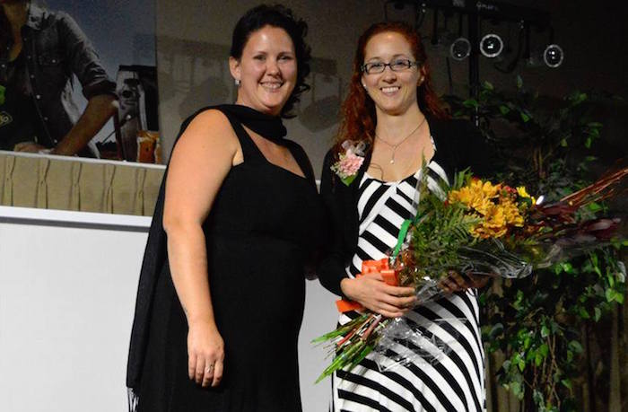 AlyssaLeblanc presidente avec CatherineDaoust boursiere 2017 Gala Agriculttrices photo courtoisie