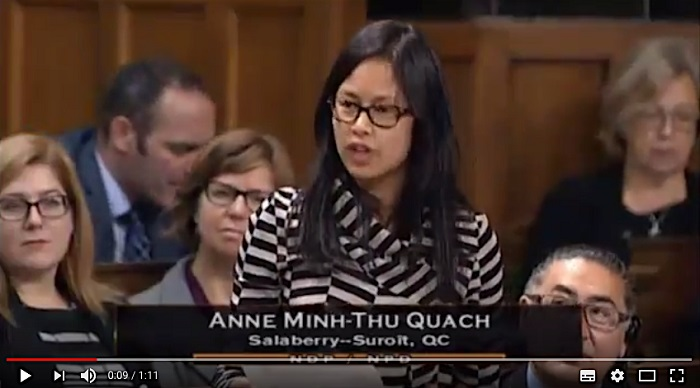 AnneQuach intervention sur Ministre Morneau oct2017 Extrait Youtube