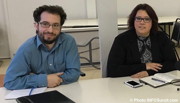 CDC Remi_Pelletier et Melanie_Scraire Photo INFOSuroit