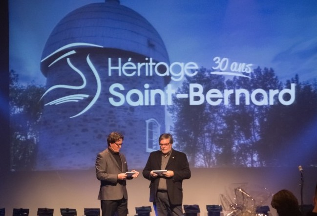 LLecuyer et PSauve soiree-benefice 2017 HeritageSt-Bernard Photo AlexandreSeguin via HSB