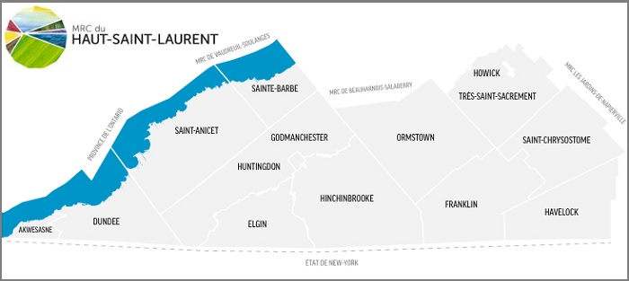 MRC du Haut-Saint-Laurent carte extrait site Web mrchsl_com