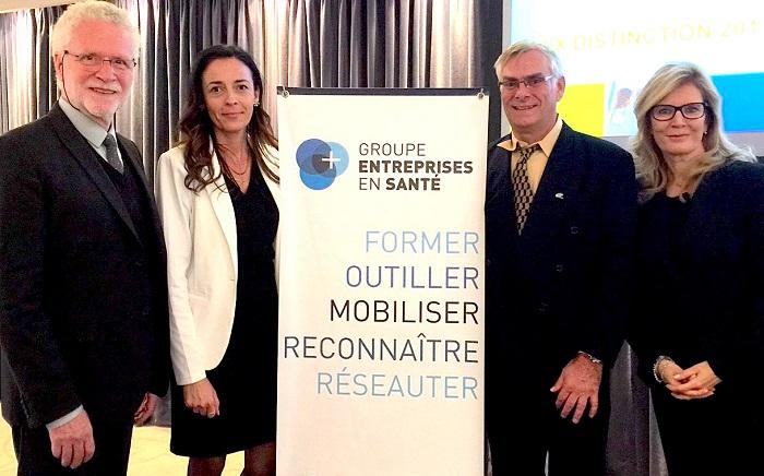 Prix distinction 2017 Groupe_entreprises_en_sante Photo via MRC_BhS