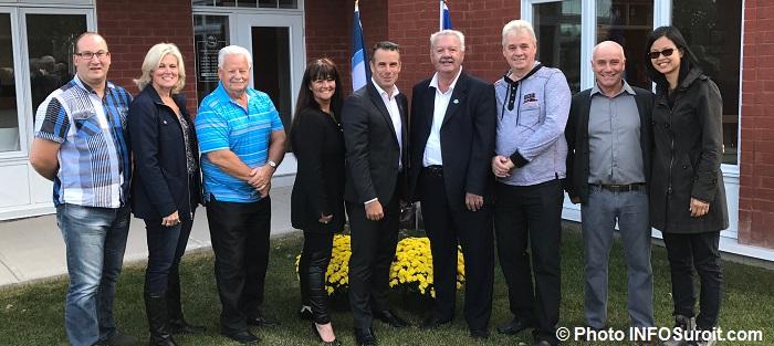 SBillette et CSoucy avec membres du conseil municipal et deputee AQuach Photo INFOSuroit