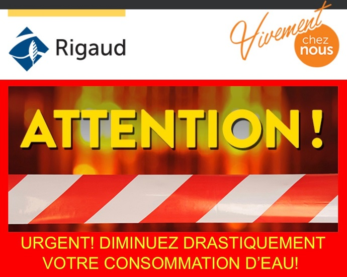 attention message urgence Ville Rigaud