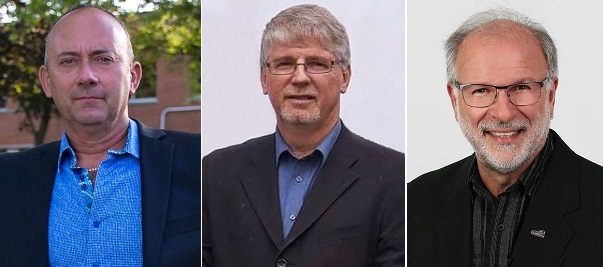 candidats mairie Beauharnois Andre_Filion Bob_Guay et Bruno_Tremblay Photos courtoisie