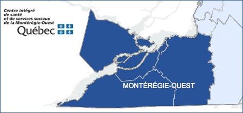 carte territoire CISSS Monteregie-Ouest visuel courtoisie CISSSMO