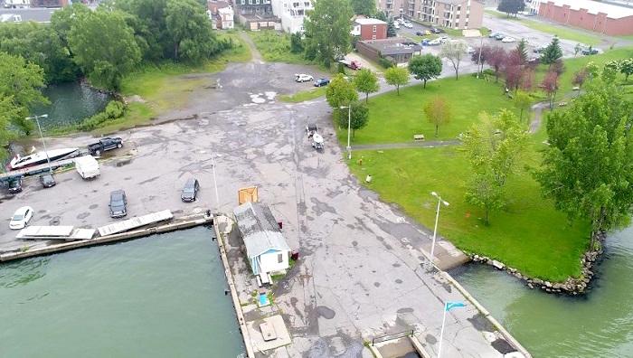entree et stationnement marina de Beauharnois Photo via site web Ville Beauharnois