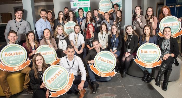 etudiants gagnants bourses Desjardins Vaudreuil-Soulanges 2016-2017 Photo courtoisie