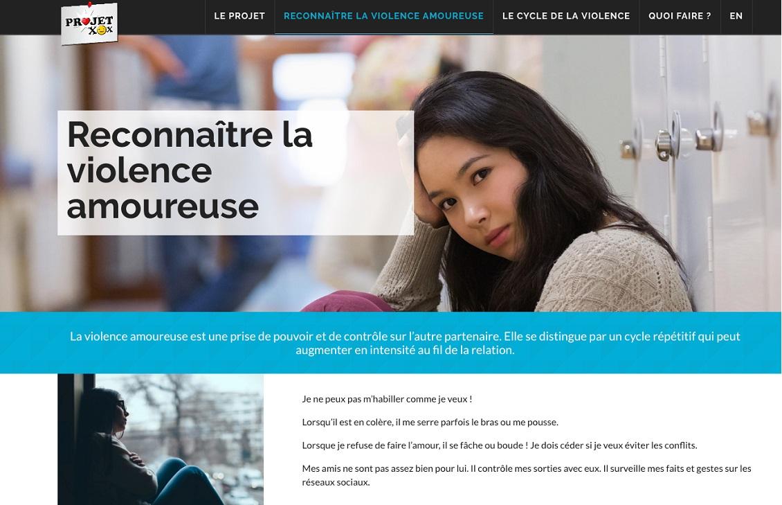 lancement projet XOX site web capture ecran site Web