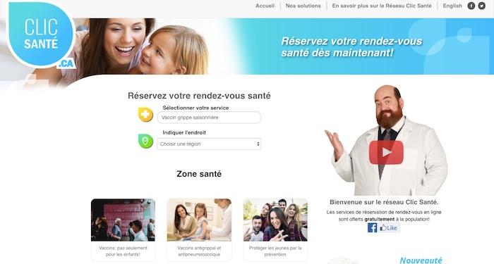monvaccin_ca clic sante prise rendez-vous capture ecran