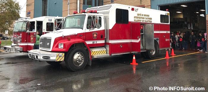 portes ouvertes caserne des pompiers Valleyfield camions visiteurs Photo INFOSuroit