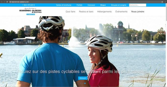 tourisme site Web Beauharnois-Salaberry_com capture ecran