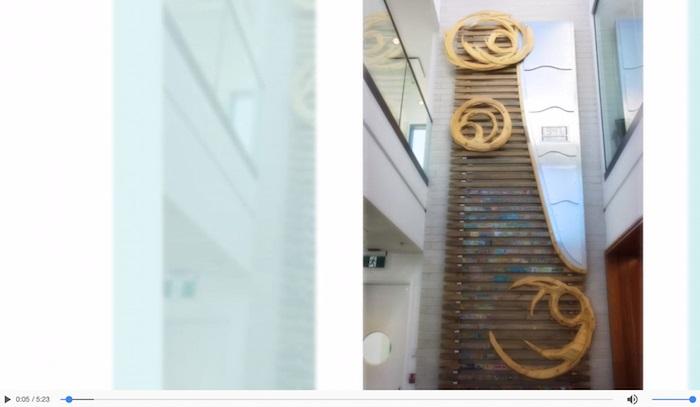 video des photos de Patrick Albert inauguration oeuvre artistique nouvel hotel de ville Rigaud