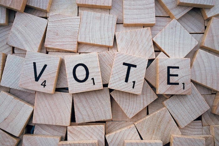 vote elections mot scrabble Visuel Wokandapix via Pixabay CC0
