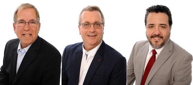 3 des nouveaux elus au conseil a Chateauguay MEnault ECorbeil et EAllard Photos courtoisie Vision Chateauguay