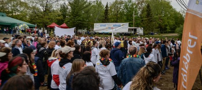 Ceremonie depart 14e Relais pour la vie VS Photo via SCC