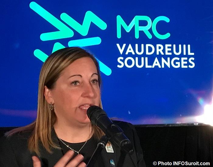 DanieDeschenes mairesse NDIP et nouveau logo MRC Photo INFOSuroit