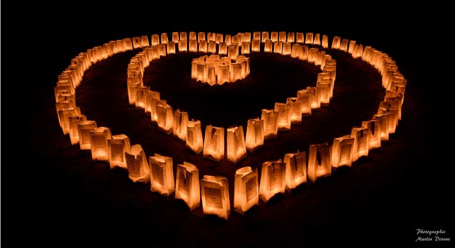 Relais pour la vie VS luminiaires en coeur Photo Martin_Dionne via SCC
