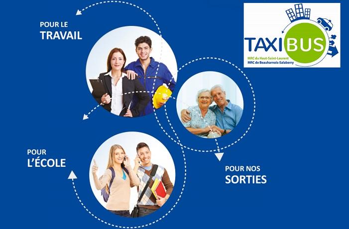 Taxibus MRC extrait depliant 2017 pour travail ecole sorties avec logo Visuel courtoisie MRC