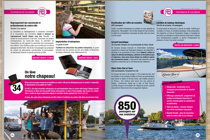 Valleyfield Bilan annuel des realisations 2017 pages 24-25