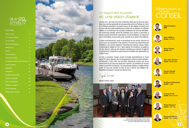 Valleyfield Bilan des realisations 2017 pages 2 et 3