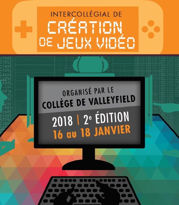 affiche concours intercollegial creation jeux video 2018 Image via ColVal