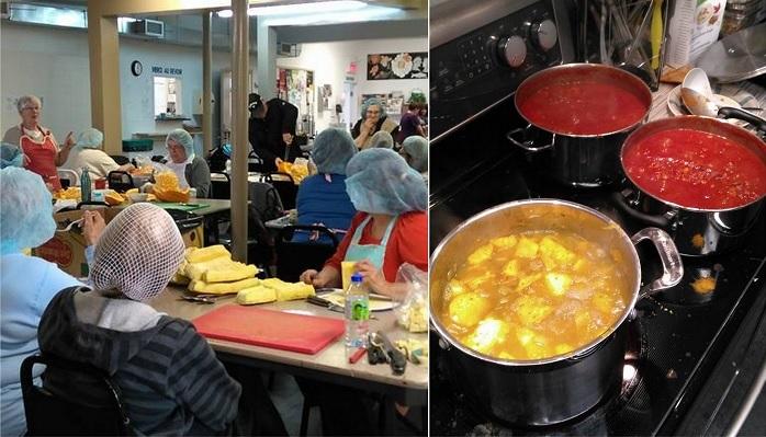 recuperation de citrouilles cuisine PRAQ Ville valleyfield et partenaires Photos courtoisie SdV