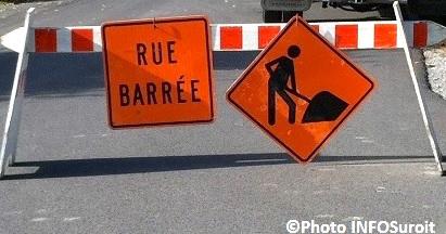 rue barree travaux detour signalisation Photo INFOSuroit_com