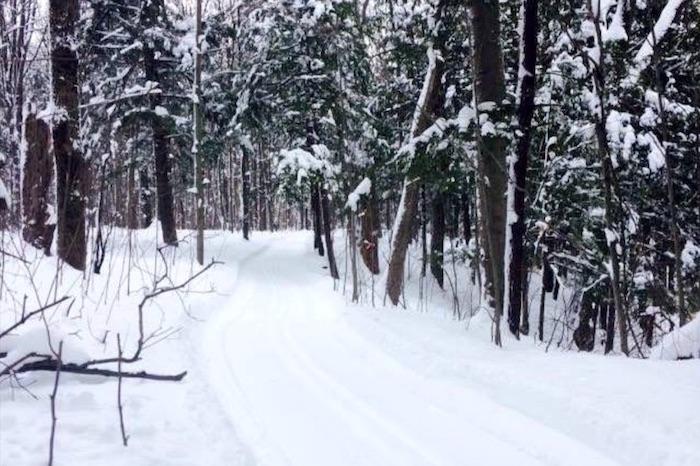Bois Robert hiver a Beauharnois sentier neige photo courtoisie Ville Beauharnois