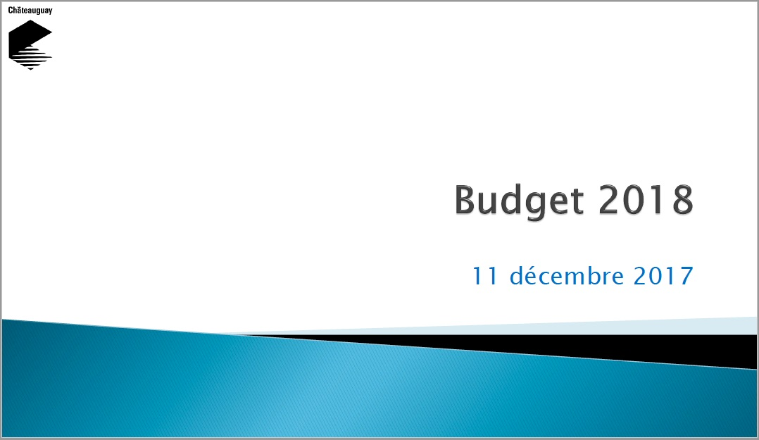 Chateauguay Budget 2018 document presentation