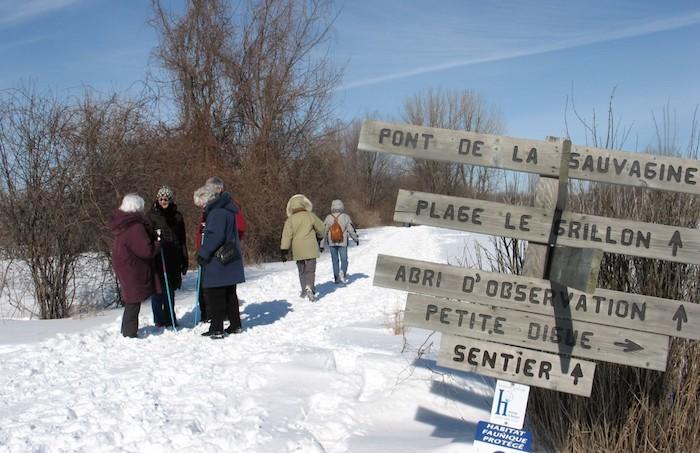 randonnee hiver refuge faunique sentiers Copyright photo HeritageSaintBernard