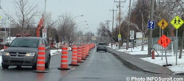 travaux publics ville Chateauguay boul Maple hiver Photo INFOSuroit