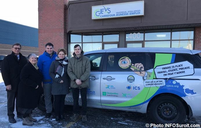 CJE Vaudreuil-Soulanges nouvelle camionnette partenaires photo INFOSuroit
