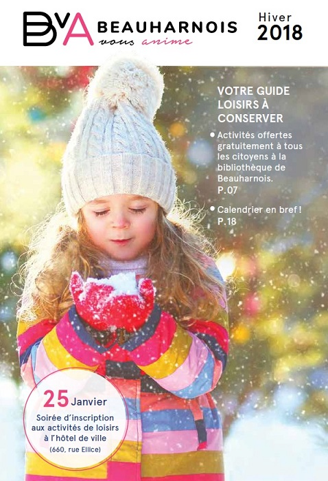 Hiver 2018 page couverture bulletin Beauharnois_vous_anime