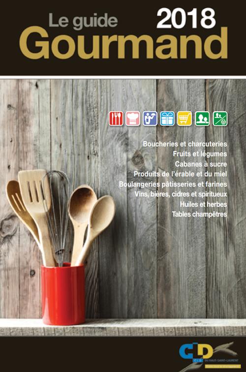 Visuel Guide gourmand 2018 page couverture via CLD HSL